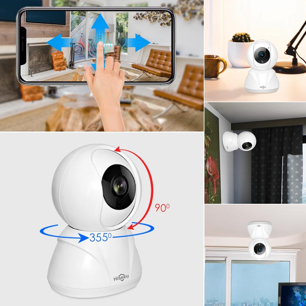 Hiseeu 1080P 1536P IP cámara inalámbrica WiFi inteligente Cámara de Audio Registro de vigilancia Monitor de bebé HD Mini cámara de seguridad CCTV para el hogar