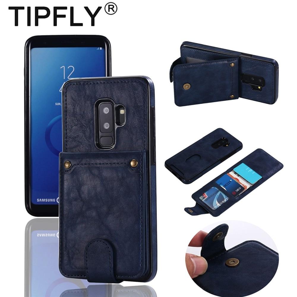 TIPFLY Мода PU кожаный чехол для samsung Galaxy S9 плюс Чехол Съемный карт памяти Флип Бумажник задняя крышка для samsung s9 случае
