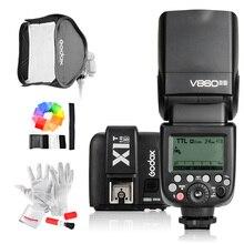 Godox v860iic/v860iin/v860iis + x1t-c/x1t-n/x1t-s HSS 1/8000 s GN60 TTL flash speedlite 2.4 г Трансмиссия + Godox Софтбоксы + фильтр