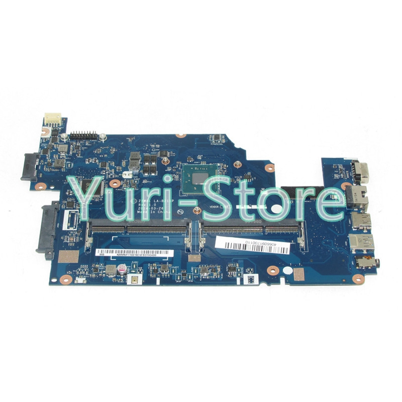 NOKOTION Z5WAL LA-B211P For acer aspire E5-511 Laptop motherboard NBMNY11001 NB.MNY11.001 SR1YJ N2840 DDR3L nokotion jalb0 l01 la 4171p for acer aspire 5530 5530g laptop motherboard ddr2 socket s1 mbapv02001 mb apv02 001 mainboard