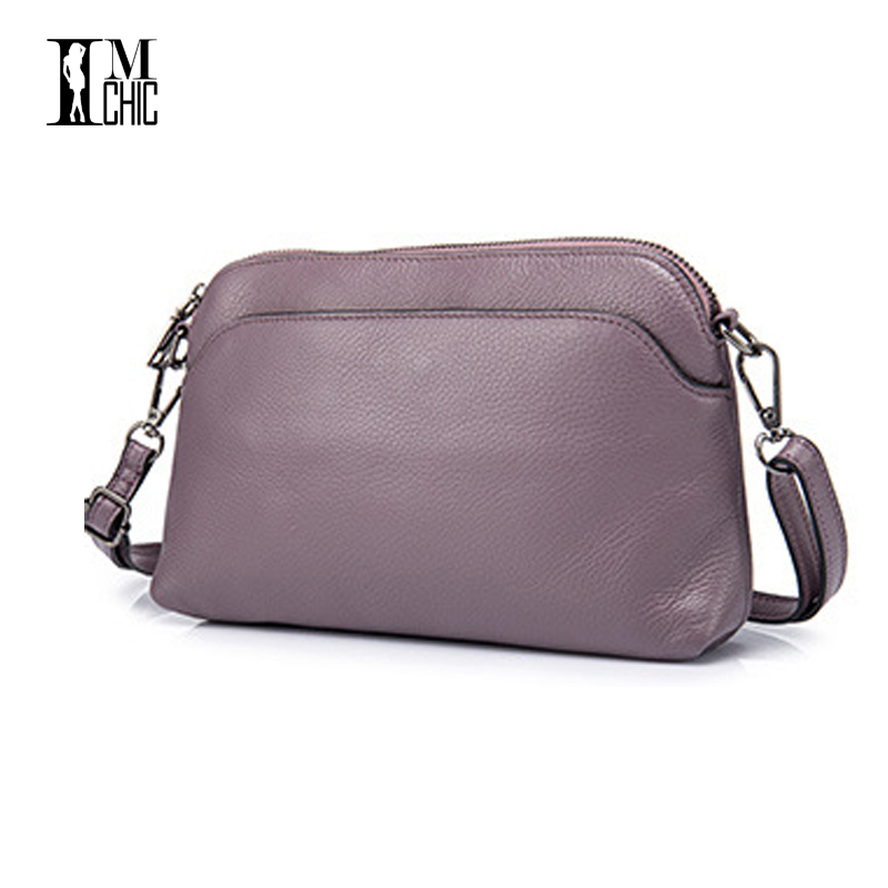 c146c9f271 2017 Soft Genuine Leather Women Messenger Bags Ladies Small Shoulder  Handbags Woman Crossbody Black Purple Girl Gift Solid Color-in Top-Handle  Bags from ...