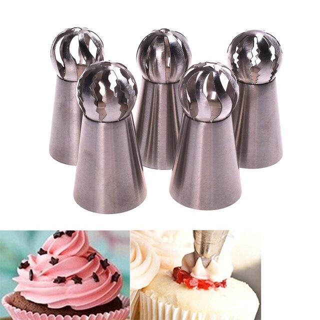 1 PC Russische Bol Cream Icing Piping Cake Nozzle Gebak Tips Cup taart Decoreren Gereedschappen Chocolade Cookie Decoraties