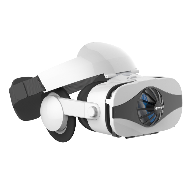 Fiit VR 5F Headset Fan Cooling Virtual Reality 3D Glasses Box for 4.0 – 6.4 Inch Smart Phone