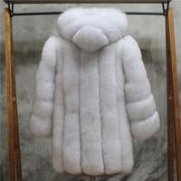 New 2018 Fashion Gorgeous Winters Real Fox Fur Hooded coat ., Beautiful Amazing Natural fox fur coats outerwaer