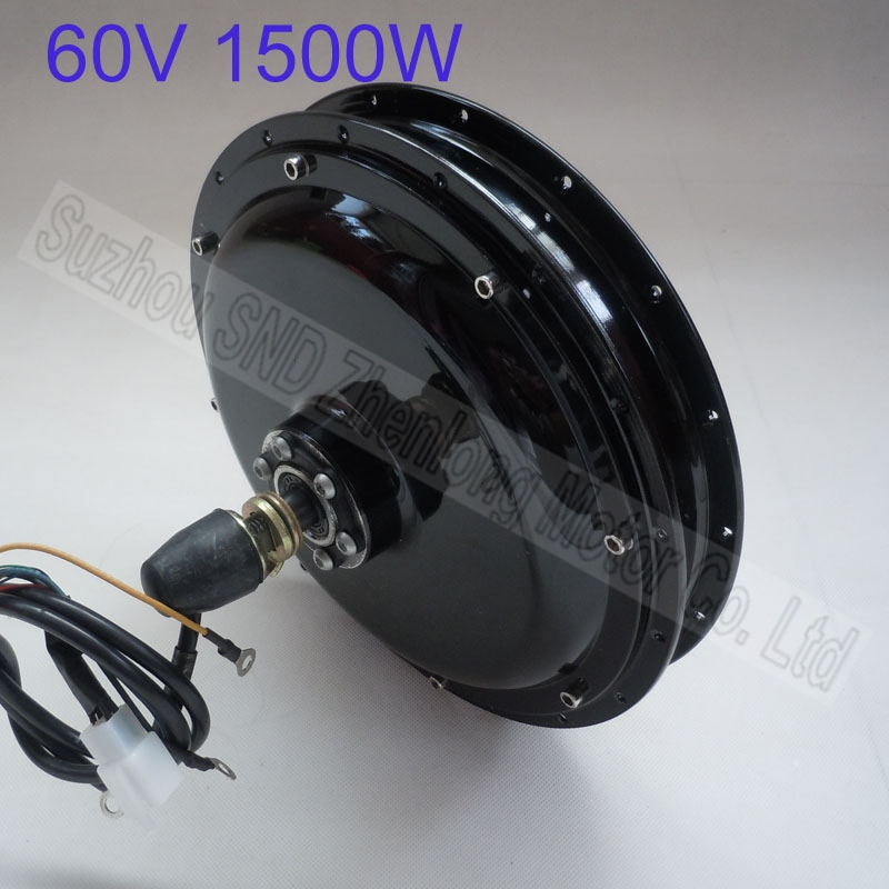48v Customized 1500w 60V brushless electric bike wheel front spoke hub motor G-M038 - Suzhou SND Zhenlong Motor Co. Ltd store