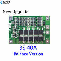 3S 40A BMS 11.1V 12.6V 18650 lithium battery protection Board with balanced Version for drill 40A current