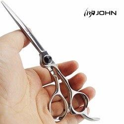 جون المقصات اليابانية VG10 الكوبالت سبائك مقص لقطع الشعر المهنية مقصات الحلاقة ل حلاقة لوازم