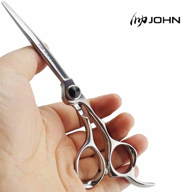 John shears japonês vg10 cobalto liga tesoura para corte de cabelo profissional cabeleireiro tesoura para barbeiro suprimentos