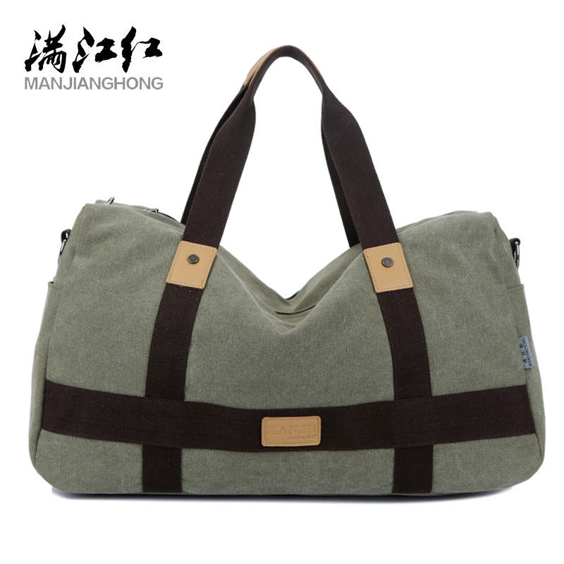 New Men's Casual Wild Canvas Bag Large Capacity Simple Handbag Fashion High Quality Shoulder Messenger Bag