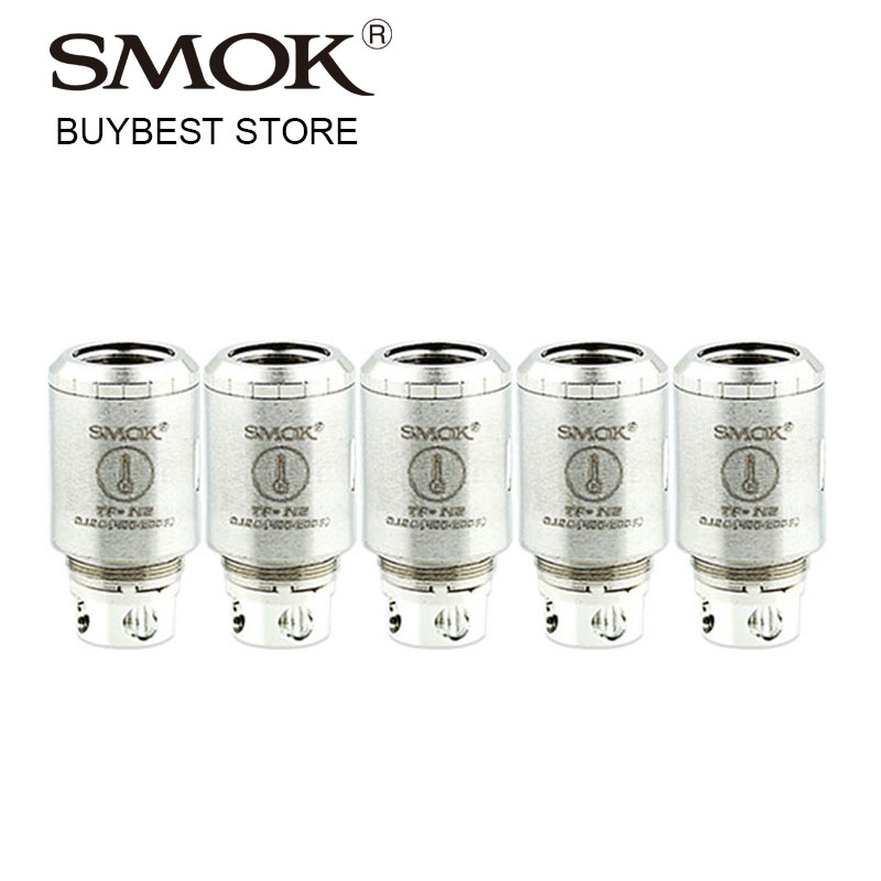 5pcs SMOK TFV4 TF-N2 Standard/Air Core 0.12 ohm Coil Head for TF-V4 Tank Atomizer Temperature Sensing Capability/No Burnt Taste