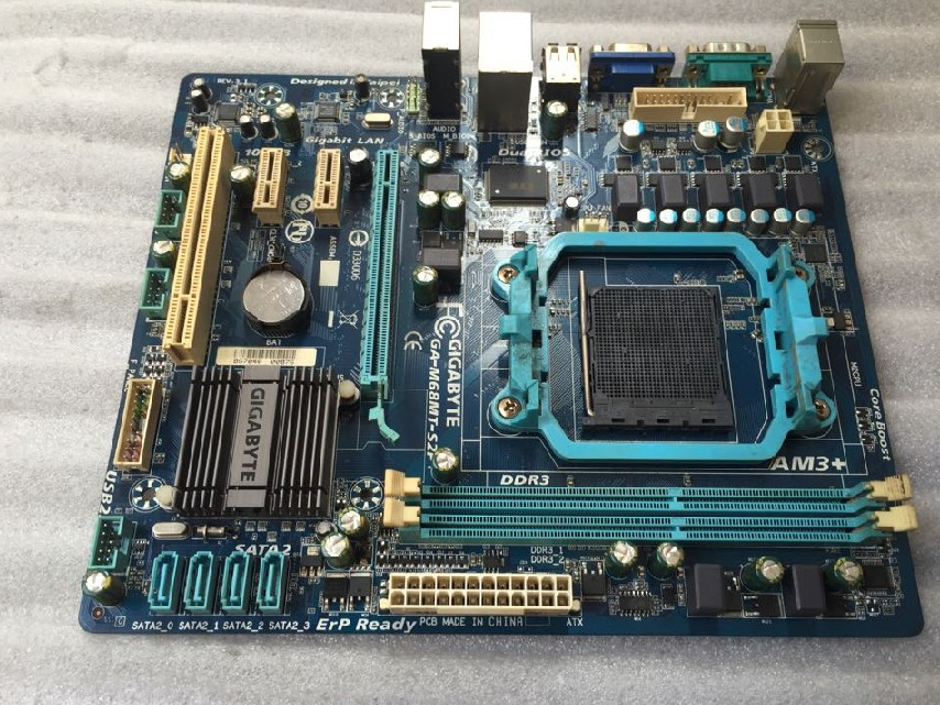 Free shipping 100%original desktop motherboard for gigabyte GA-M68MT-S2P DDR3 Fully integrated / AM3 + / FX set a small plate original motherboard ga g41mt s2 lga 775 ddr3 g41mt s2 8gb fully integrated g41 free shipping