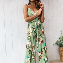 Summer Fashion Women Jumpsuit Strappy Off Shoulder Sleeveless Printed Playsuit Party Clubwear Romper femme