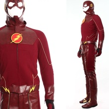 High Quality The Flash Barry Allen Cosplay Costume + Boots Halloween Costume for Men Carnaval Disfraces S-XXL/Custom Any Size  цены