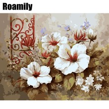 Popular white flower chinese oil buy cheap white flower chinese oil roamilypainting by numbers flowerschinese style white flowers oil paintinghome decor mightylinksfo