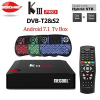MECOOL KIII PRO TV Box Amlogic S912 S2 T2 DVB Octa Core Smart Android 7.1 3G 16G Dual Band WiFi 1000M Media Player set top box