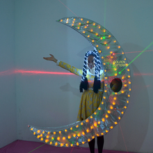 crescent moon LED Clothing Fashion Luminous Suits Glowing suits Talent show luminous Costumes Illuminated Catwalk Bar prop JHD