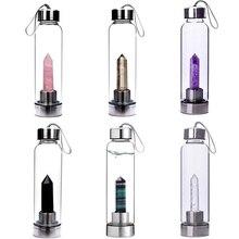 Natural Quartz Healing Water Bottle