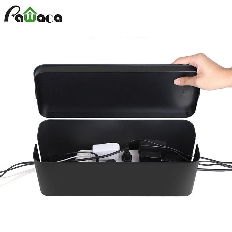 Creative Safety Plastic Large Socket Outlet Board Storage Box Plug-in Board Row Plug Cable Wire Organizer Management Case