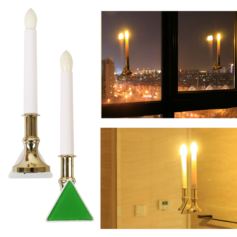 U Easy 2 Pc Bright Plastic Led Candle Light For Indoor And