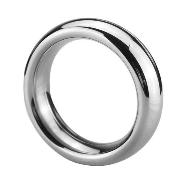 Anneau dentraînement de retard de pénis dacier inoxydable de 40/45/50mm retard de coq anneau de temps déjaculation anneau de résistance de prépuce jouet sexuel pour les hommes