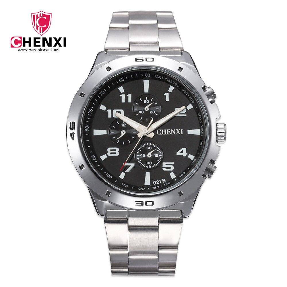 CHENXI Fashion Brand Luxury Watches Men Casual Stainless Steel Waterproof Gift Clock Quartz Male Wristwatch Relogio Masculino