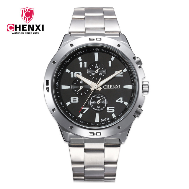 CHENXI Fashion Brand Luxury Watches Men Casual Stainless Steel Waterproof Gift C
