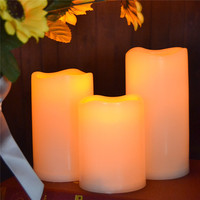 3pcs Lot 2AA Battery Operated Votive Candles Unscented Led Votive Candles Flameless Electric Votive Lights