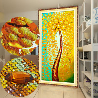 Special Shaped Crystals 64 120cm Arts And Crafts Diamond Tree Pictures Wall Stickers Embroidery In Diamonds