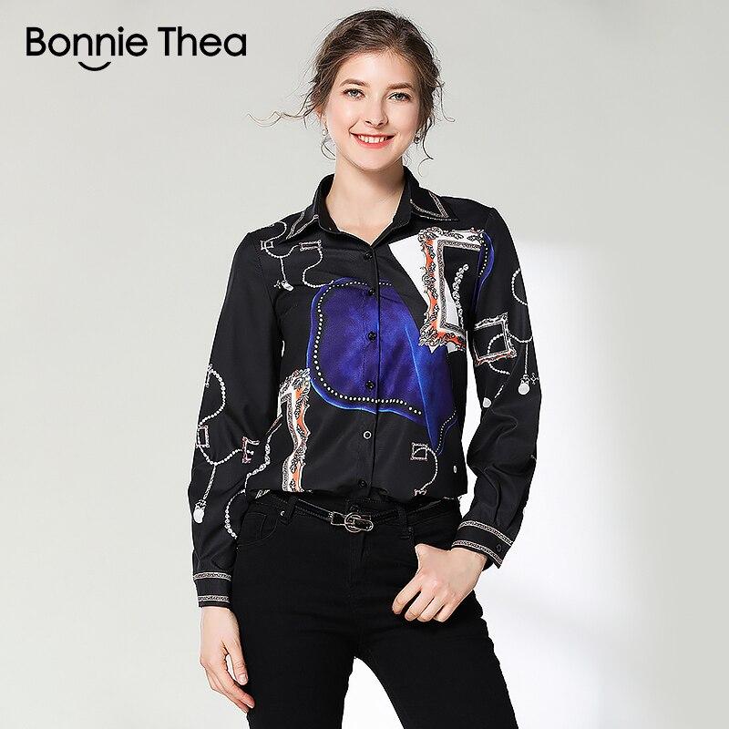 efcddd2b0 Elegante Verano Negro Oficina Bonnie De Thea Blusa Camisa Ropa ...