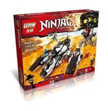 LEPIN 06038 Black Ninjagoes Phantom Ninja Super Invisible Marauder Bricks Building Block Minifigure Compatible with Legoe