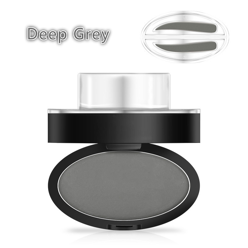 5.5g Deep Grey Eyebrow Stamp Powder Seal Shadow Set Waterproof Long Lasting Natural Eyes Brow Palette Delicated Lazy Quick Easy Attractive Designs;