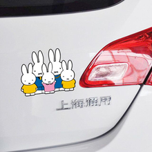Miffy Cartoon Family Car Sticker and Decal Cover Scratches for Bmw Audi Volkswagen Polo Golf Skoda Toyota Rav 4 Peugeot 206 307