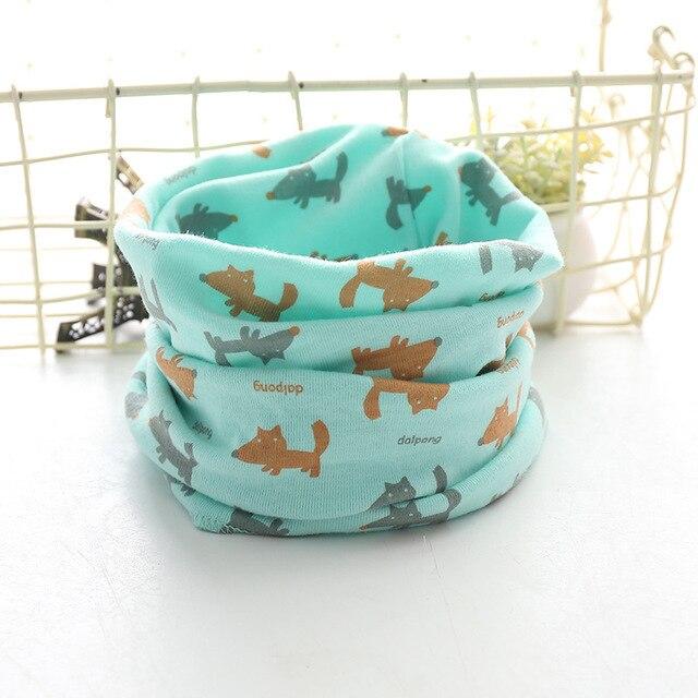 Корейский хлопковый детский шарф, снуд с рисунком, клетчатые шарфы с кольцами для девочек, зимний теплый снуд для мальчиков, детский снуд - Цвет: 30