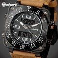 INFANTRY Men Sports Watches Square Face Army Military Quartz Digital Watches Relojes LED Display Wristwatch Clocks Luxury Brand