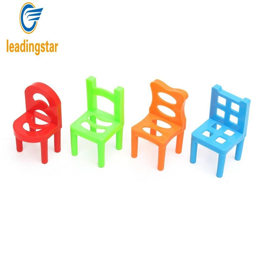 Kids stacking chairs - Leadingstar Mini Plastic Balance 18pcs Lot Chair Shape Blocks Stacking Chairs Block Toy Kids Desk