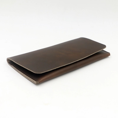 men leather wallets thin designer male long wallet purse money card organizer vintage handmade cow leather brown purse bogesi men wallets famous brand men s money wallet men s wallets soft card case new classic soild designer wallet card holder