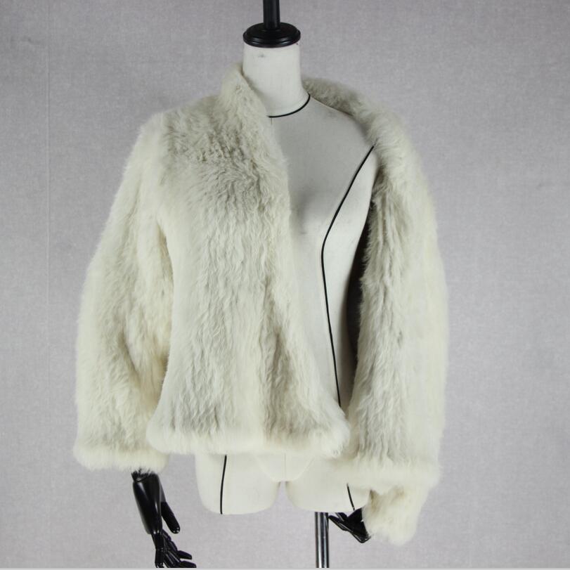 2 1 2018 Tricoté Chaud Vêtements 3 6 Mince Fourrure Épais Femelle 4 Casual Véritable De 5 Nouveau 8 Femmes Manteau Lapin Manteaux Hiver Mode 7 Automne Pardessus Veste RqSwrzR