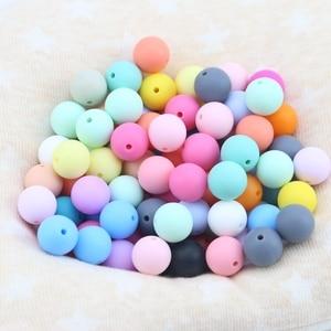 Image 4 - Laten We 20 Mm Silicone Kralen Ronde Losse Tandjes 100 Pc Chew Sieraden Kleurrijke Ballen Zintuiglijke Kids Chew Speelgoed bite Ketting Kralen