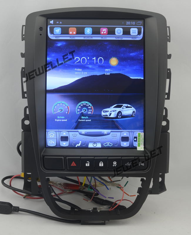 10.4 tesla style vertical écran android 4.4 Voiture GPS radio Navigation pour Opel Astra, vauxhall Astra 2010-2015