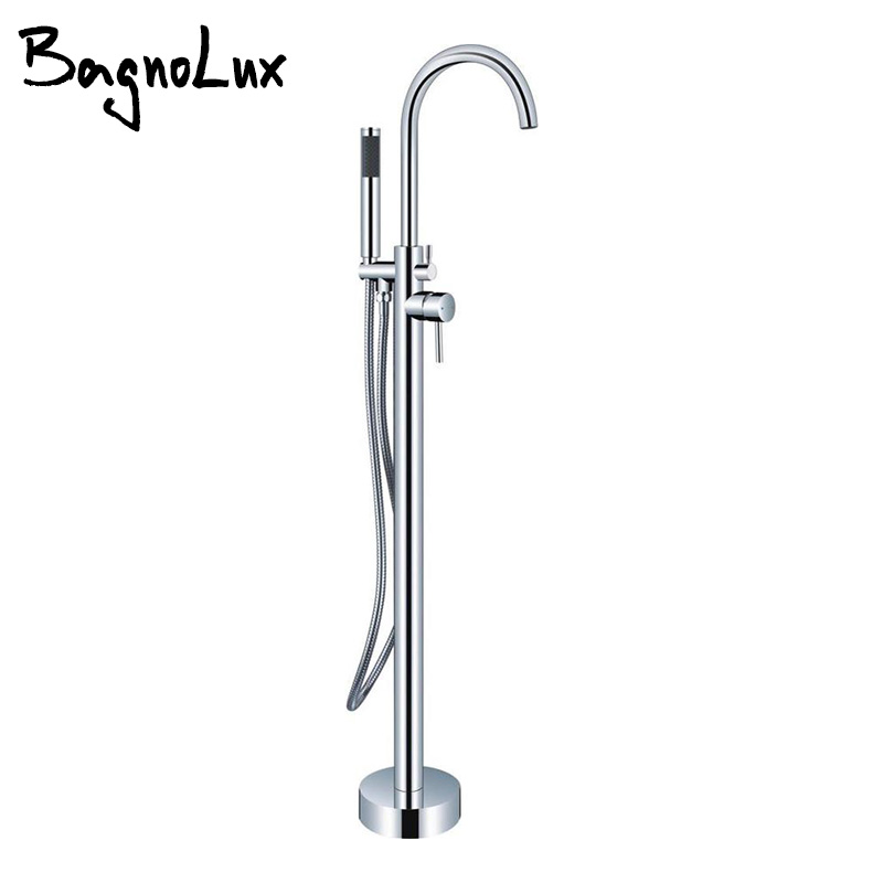 Chrome Silver Or Gold Pvd Double Handle Claw Foot Tub Shower Mixer Tap Valve Set 2-Handle Freestanding/Wall Mount Bathtub Faucet фонокорректоры audio valve sunilda silver chrome