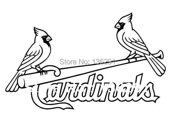 Diy St Louis Cardinals Logo Vinyl Sticker Car Window