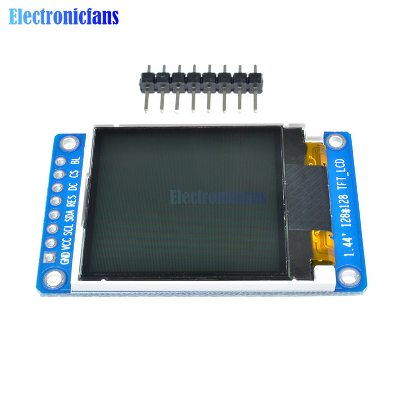 3.3V 1.44 Inch TFT LCD Display Module 128*128 Full Color 8 Pin SPI Serial Interface ST7735S 1.44