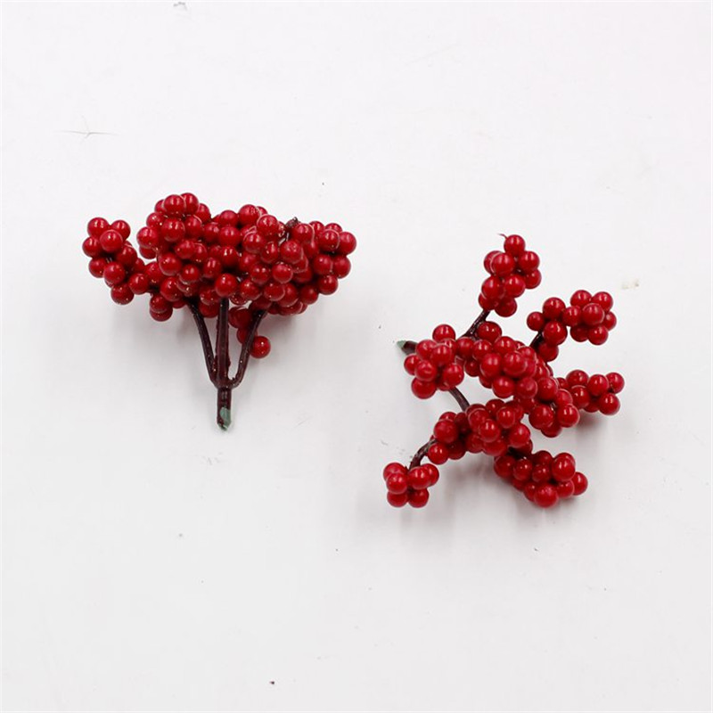 1 mini plastic tree fruit simulation small berry flower red artificial cherry pearl fake christmas tree decoration wedding - Mini Fake Christmas Tree