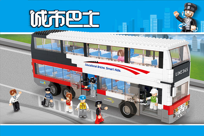 Aliexpress Buy Models Building Toy 0335 Decker Bus School Bus