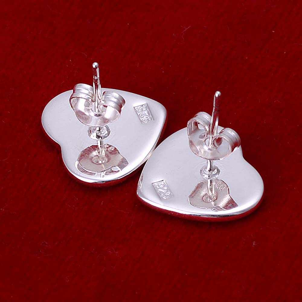 Wholesale  Jewelry Silver Plated Earring,Wedding Jewelry Accessories,Fashion Heart Tag No Words Silver Earrings For Lady