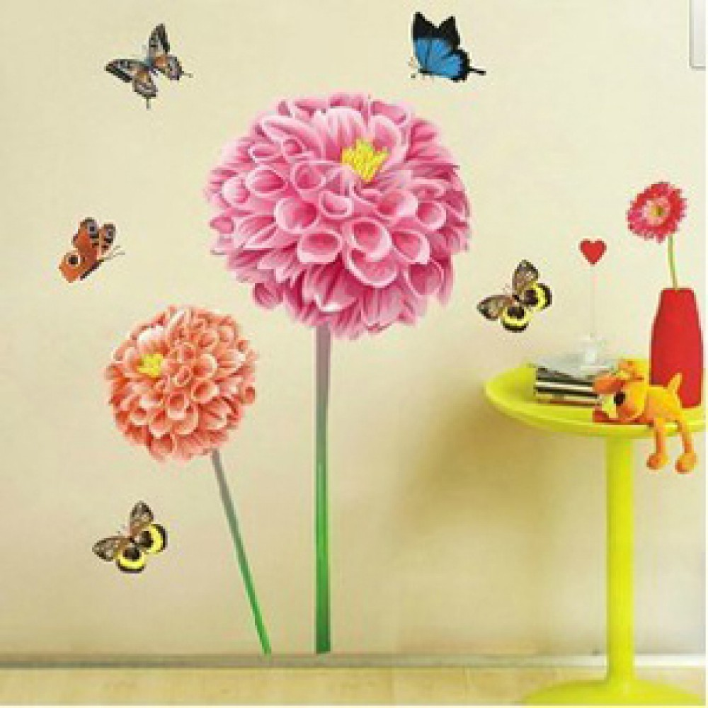 popular sunflower wall decal buy cheap sunflower wall decal lots beautiful sunflowers wall stickers butterflies wall decals for living room for bedroom wall art g0dm57