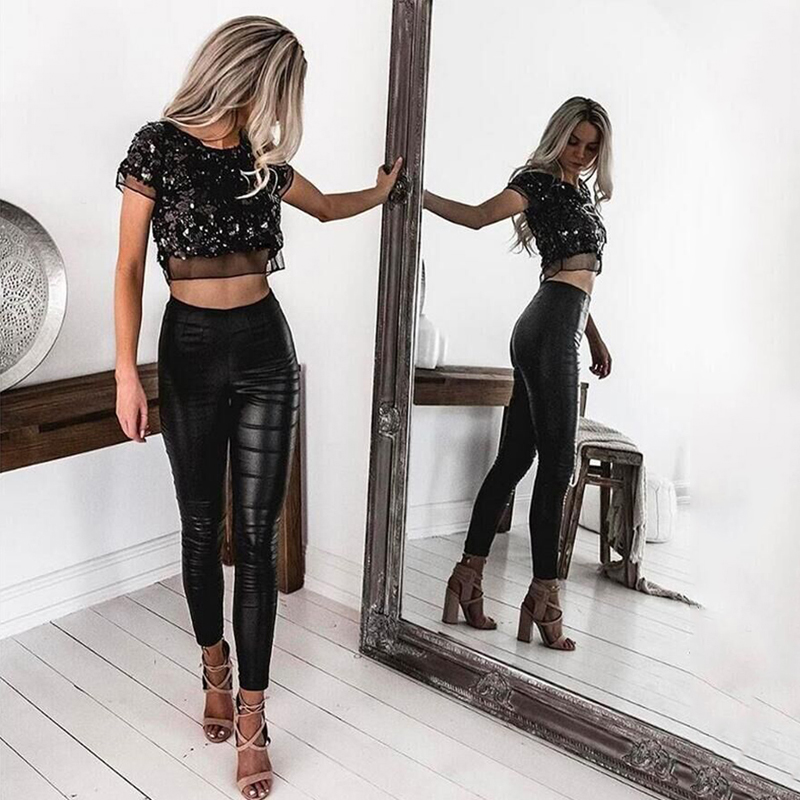 7dae5a9ae17949 Sexy Summer Silver Sequined Mesh Crop Top O Neck Short Sleeve Gold Tee  Shirt Cropped Tops Party Beach 2017 Femenino Black Tops-in T-Shirts from  Women's ...