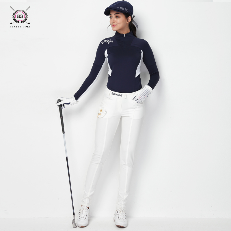 sports pants for women high elastic sportsweaer slim golf