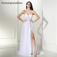 Forevergracedress Elegant Wedding Dress Spaghetti Straps Backless Long Chiffon Lace Beach Boho Bridal Gown Plus Size