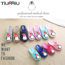 Doctor Shoes Breathable Summer Men Sandals Nurse Slippers Cute Little Penguin  Bathroom Home Non-slip Soft Bottom Women Scrubs